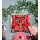 Red Cast Iron Square Trivet to Scale