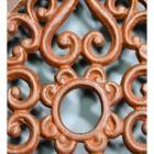 Rustic Cast Iron Square Trivet Centre Close-Up