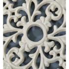 Cream Cast Iron Oval Trivet Centre Close-Up