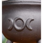 Black Crescent Moon Cauldron Detailing