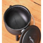 Small Cast Iron Cauldron Finished in Black Bowl