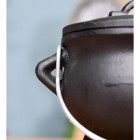 Small Cast Iron Cauldron Finished in Black Handles
