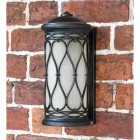 """Nightingale"" Traditional Flush Wall Lantern Finished in an Antique Bronze"