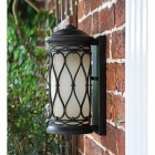 "Side View of the ""Nightingale"" Traditional Flush Wall Lantern"
