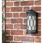 """Nightingale"" Traditional Flush Wall Lantern in Situ on a Brick Wall"