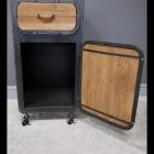 """Cupboard Door on the """"No 1"""" Industrial Bedside Cabinet"""