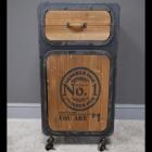 """No 1"" Industrial Bedside Cabinet in Situ"