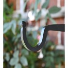 Close-up of the hook on the End of the Hanging Basket Bracket