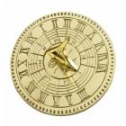 A Circular Brass Sundial with Roman Numerals