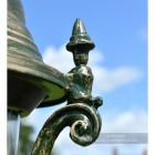 Olive Green Finial On Lamp Post Luminaire