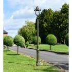 Olive Green Opulent Cast Iron Lamp Post