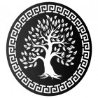 "Round ""Olive Tree"" Wall Art in a black Finish"