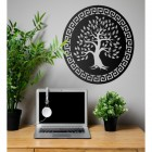 "Round ""Olive Tree"" Wall Art in Situ in the Office"