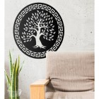 "Round ""Olive Tree"" Wall Art in Situ in the House"