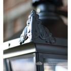 Ornate Finials On The Black Lantern