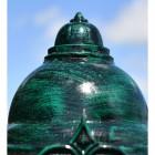 Ornate Luminaire Top in antique verdigris