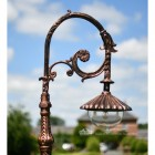 Ornate Scroll Lamp Post Bracket With Suspended Luminaire