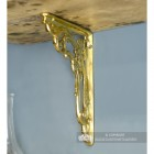 Polished Brass Shelf bracket with an Ornate Design