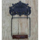 Ornate Vintage Iron Toilet Roll Holder
