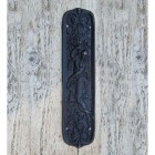 Ornate Woman Iron Finger Plate in a Black Finish