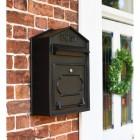 Black Post Box in Situ Next to the Front Door