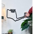 Oulton Park Motor Circuit on Wall with hand for scale