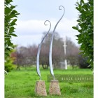 Pair of Fern Sculpture Created From Steel