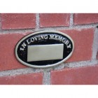 Polished Brass Oval Bench Memorial Plaque