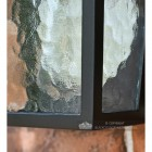 Oxford Traditional Flush Outdoor Half Wall Lantern Close Up