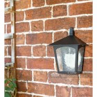 Oxford Traditional Flush Outdoor Half Wall Mounted Lantern