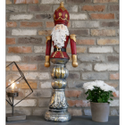 Painted Father Christmas Ornament in Situ