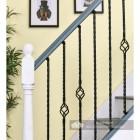 """Set of 4 """"Grosvenor"""" Rope Twist Stair Spindles in Situ on a Modern Stair Case"""