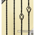 Close-up of the Single Rope Twist & Single Basket Rope Twist Spindles