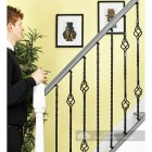 "Set of 4 ""Grosvenor"" Rope Twist Stair Spindles - Pattern 3 Scale"