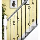"""Set of 4 """"Grosvenor"""" Rope Twist Stair Spindles - Pattern 3"""