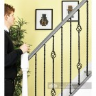 "Set of 3 ""Grosvenor"" Rope Twist Stair Spindles - Pattern 4 - Scale"