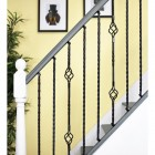 "Set of 3 ""Grosvenor"" Rope Twist Stair Spindles - Pattern 4"