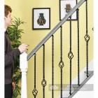 "Set of 3 ""Grosvenor"" Rope Twist Stair Spindles - Pattern 5 Scale"