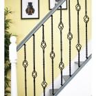 """Set of 2 """"Grosvenor"""" Rope Twist Stair Spindles in Situ on a Modern Stair Case"""