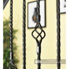 """Close-up of the """"Grosvenor"""" Rope Twist & Single Basket Rope Twist Spindles"""