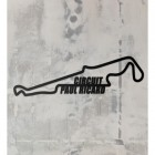 Paul Ricard Circuit Wall Art on a Rustic Grey Wall