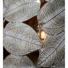 Close-up of the Leaf Design on the Pear Candle Holder