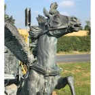 Detailed image of horse chariot sculpture