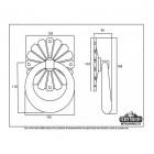 Floral Back plate Design Door Knocker Dimensions