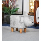 Pig Grey Leather Stool in the House