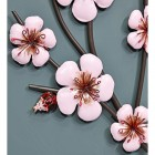 Close-up of the Pink Blossoms Metal Wall Art