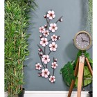Pink Blossoms Wall Art by a Floor Standing Clock