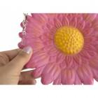 Sun-blushed Pink Daisy Hanging Bird Feeder