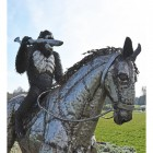 Recycled Metal 'Caesar' From Planet of the Apes Riding Horse