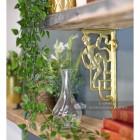 Polished brass cherub shelf bracket